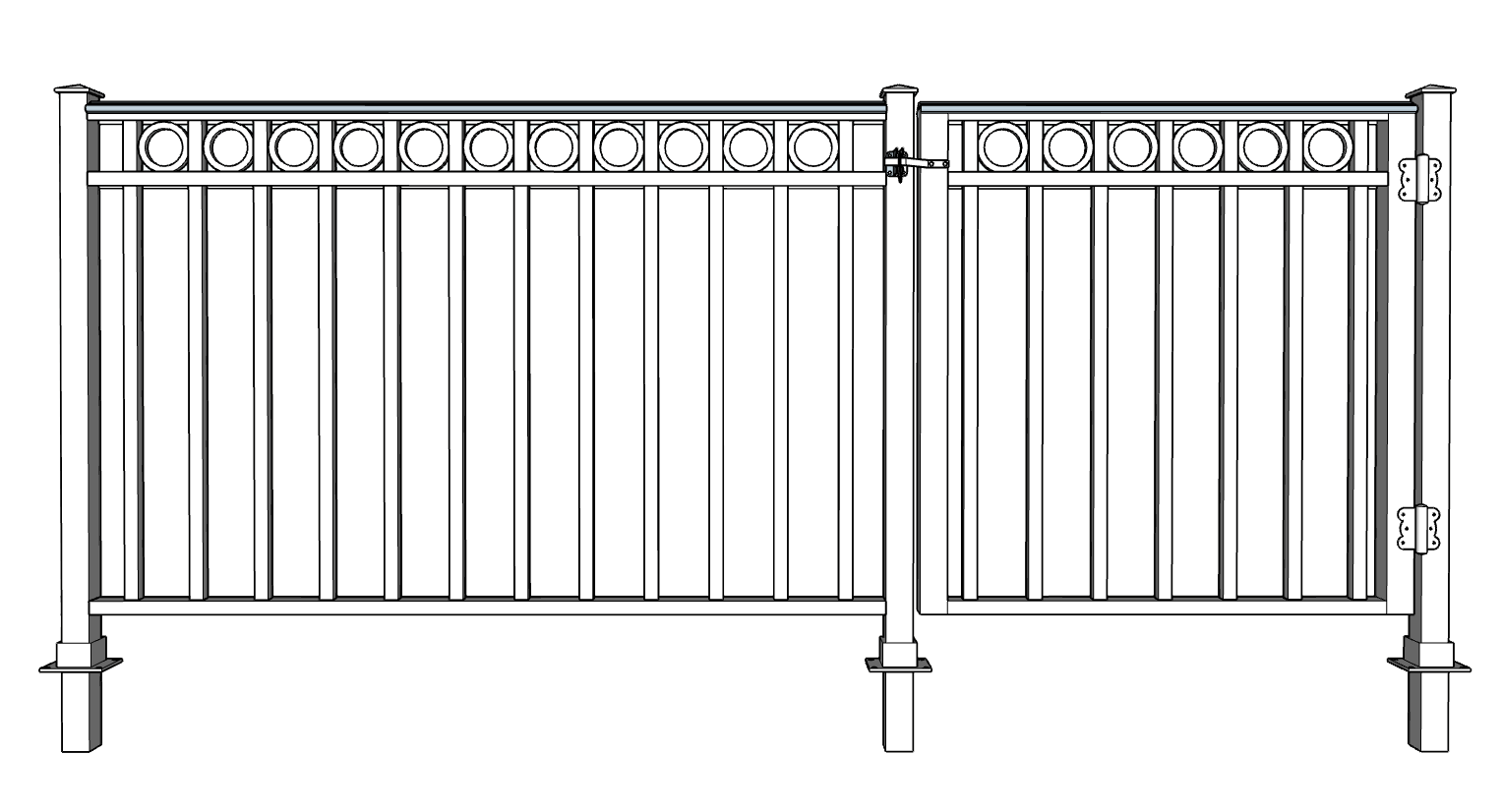Mediterranean Decorative Fence System