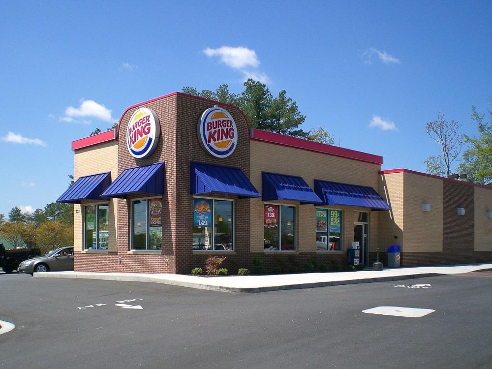 Standing Seam Metal Awnings - Burger King - Greenville, South Carolina