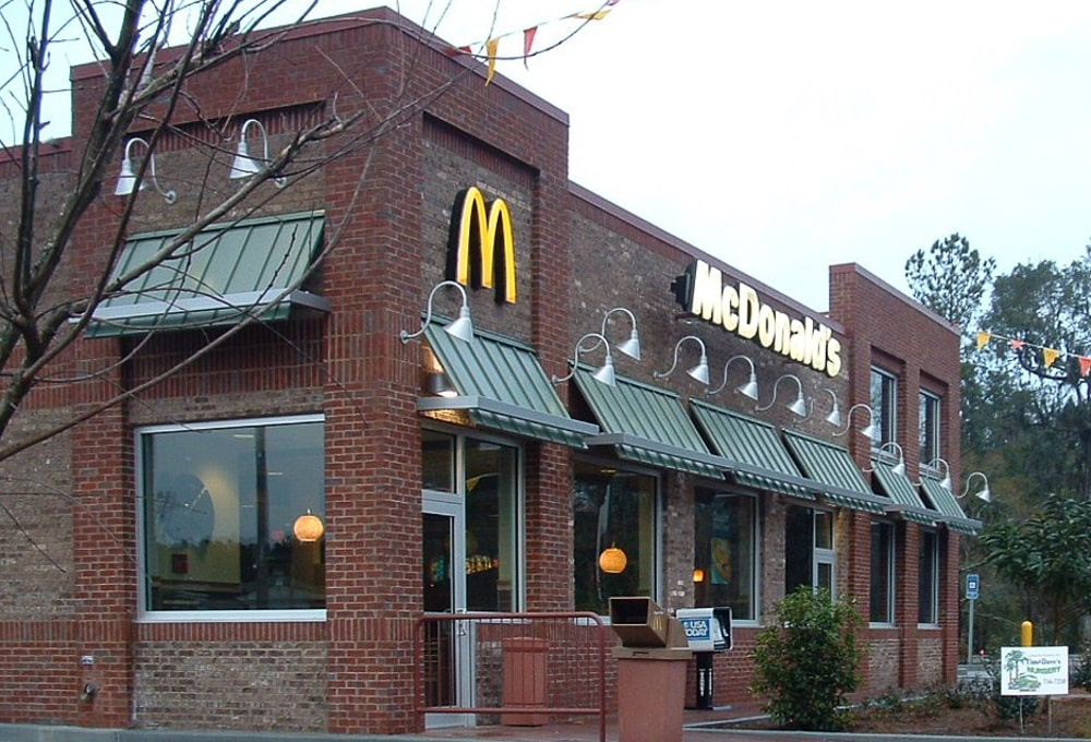 Standing Seam Metal Awnings - McDonald's - Richmond Hills, North Carolina