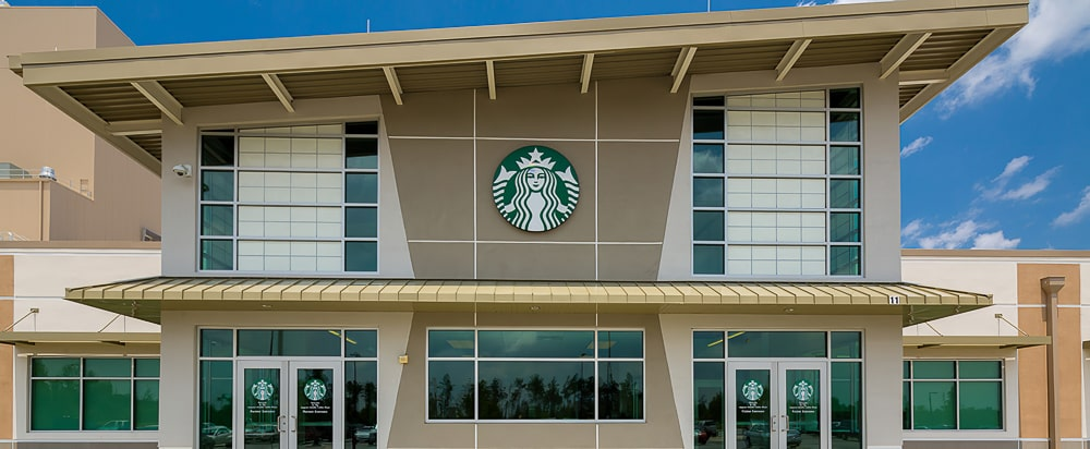 Standing Seam Metal Awnings - Starbucks - Augusta, Georgia