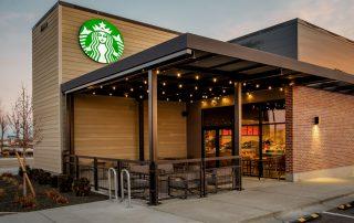 Awnex Featured Project - Aluminum Pergola - Starbucks - Meridian, Idaho