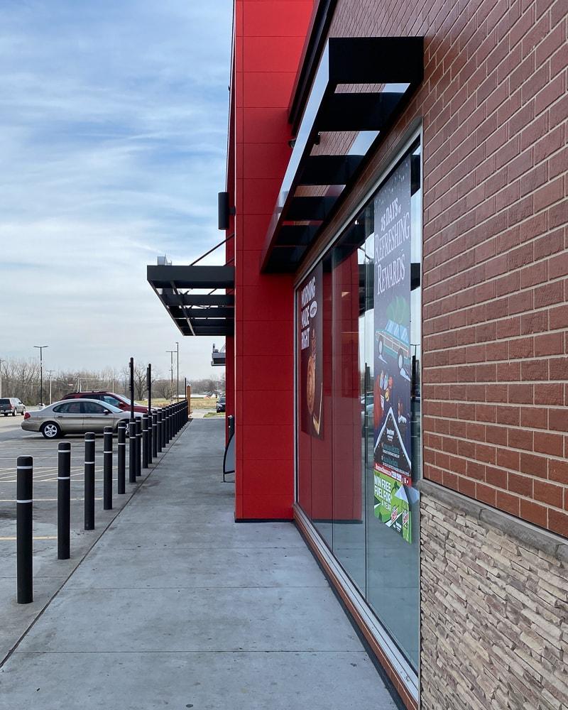 Awnex - Aluminum architectural hanger rod canopies - Memphis, Indiana